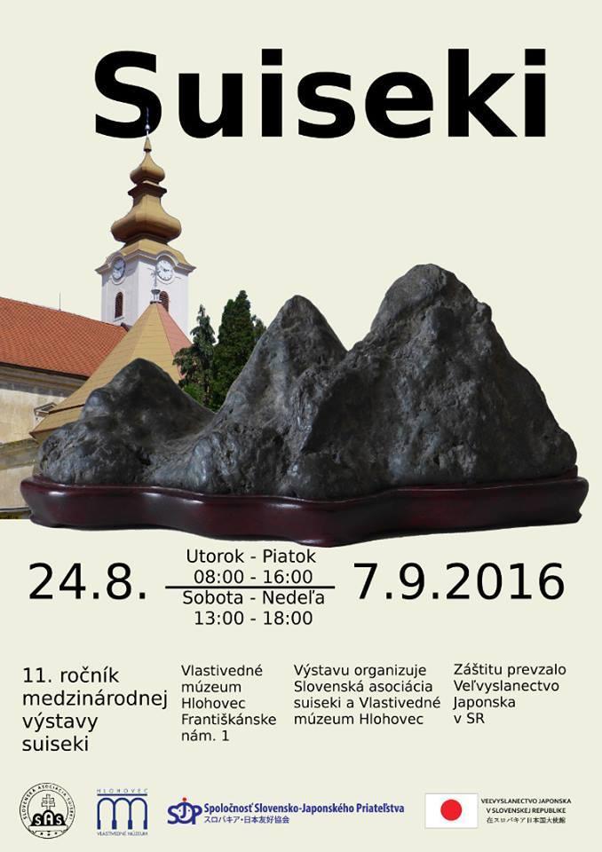 Majstri umenia Suiseki predstavili svoju tvorbu na medzinárodnej výstave v Hlohovci 24.8 – 7.9.2016
