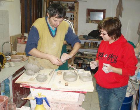 7. február 2010, Modelovanie z hliny.