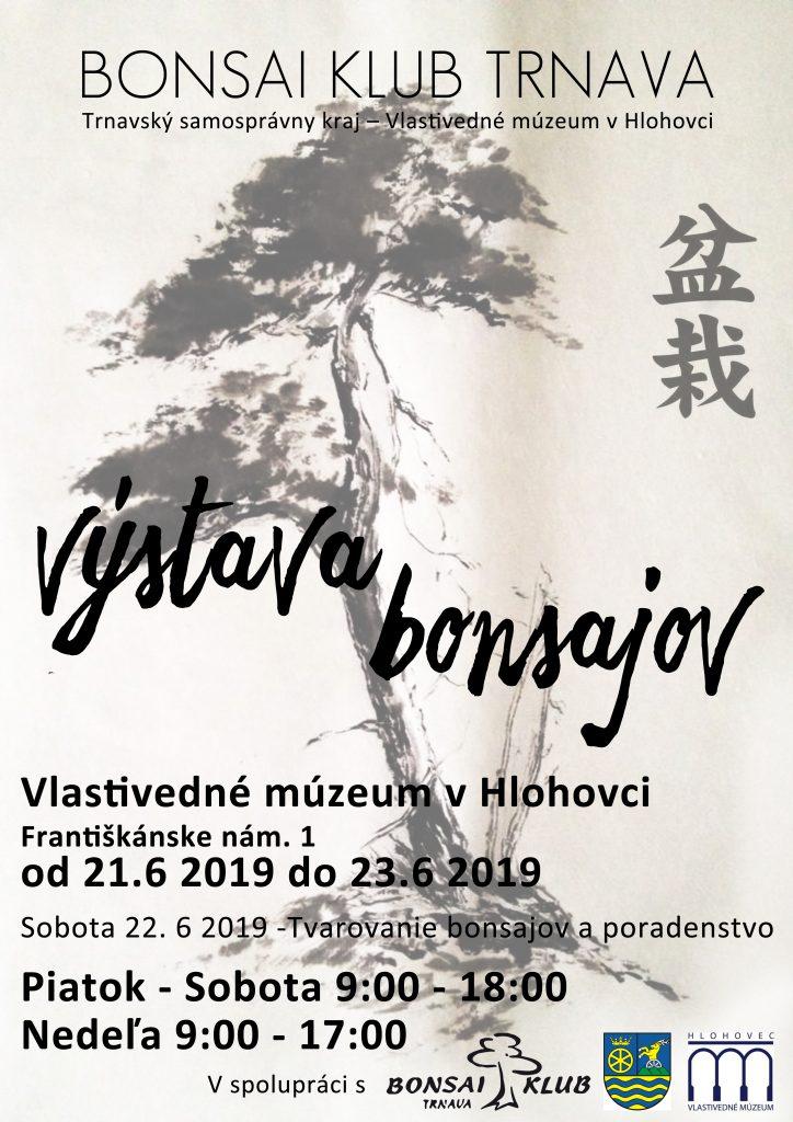 Výstava bonsajov vo Vlastivednom múzeu v Hlohovci 21. – 26. júna 2019